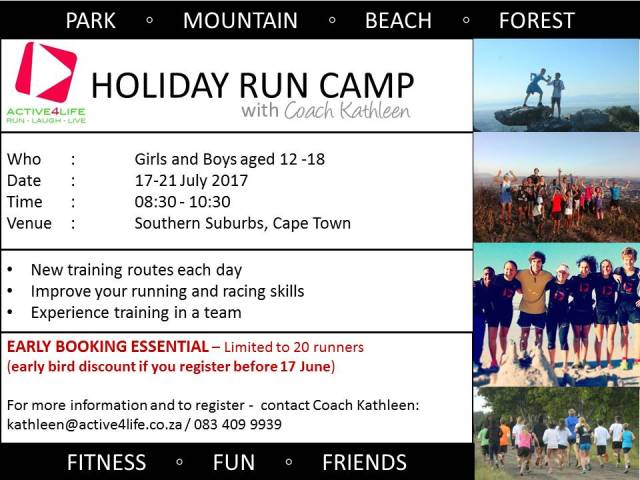 HOLIDAY RUN CAMP