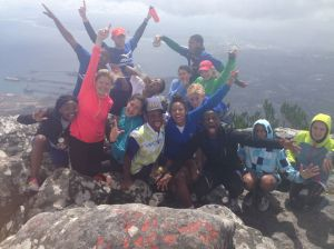Top of Devil's Peak during Camp Run a Lot 2013